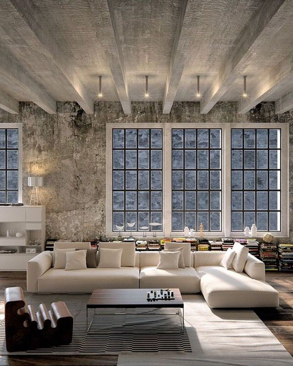 Elegant Loft Style Living Room Design Ideas For Winter 34