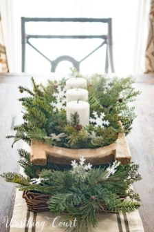 Stylish Winter Centerpiece Decoration Ideas 01