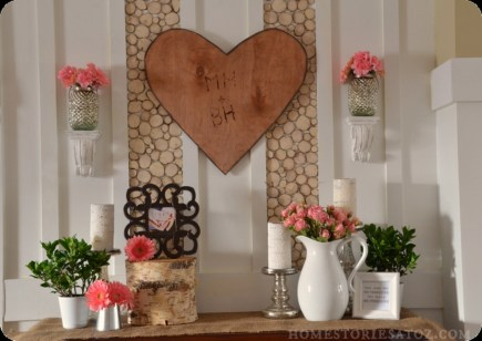Totally Cool Valentine Mantel Decoration Ideas 01