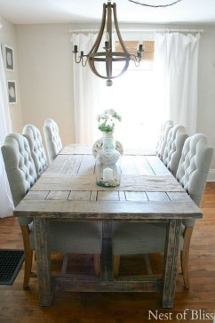 Amazing Rustic Dining Room Table Decor Ideas 45