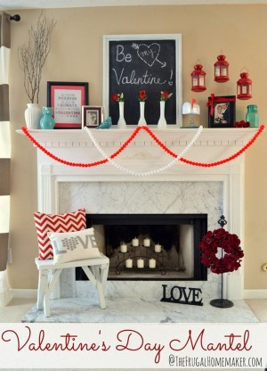 Best Valentines Fire Pit Mantel Decorating Ideas 13
