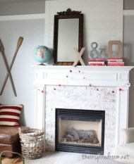 Best Valentines Fire Pit Mantel Decorating Ideas 30