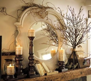 Best Valentines Fire Pit Mantel Decorating Ideas 34