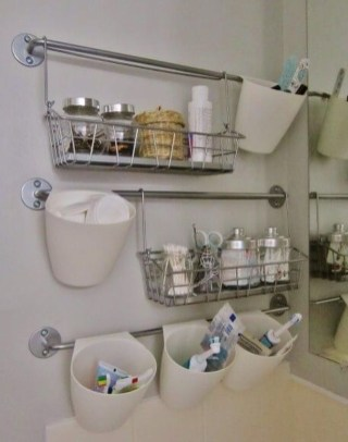 Brilliant Small Bathroom Storage Organization Ideas 33