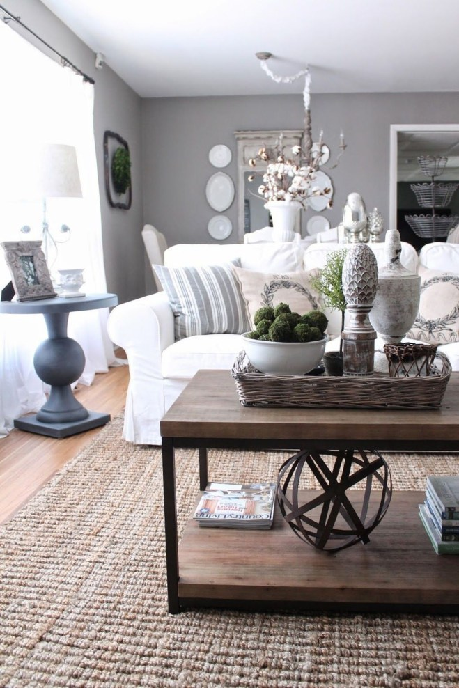 Cozy French Country Living Room Decor Ideas 15
