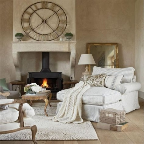 Cozy French Country Living Room Decor Ideas 16