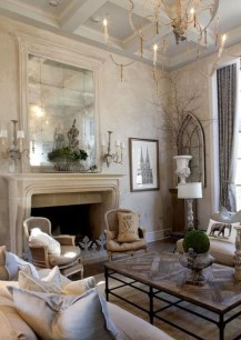 Cozy French Country Living Room Decor Ideas 30