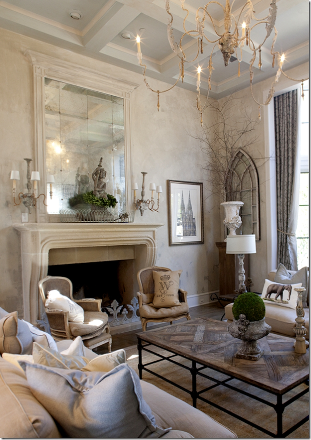 Cozy French Country Living Room Decor Ideas 36