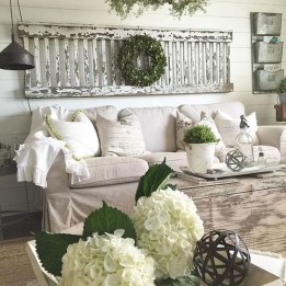 Cute Shabby Chic Farmhouse Living Room Decor Ideas 01