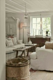 Cute Shabby Chic Farmhouse Living Room Decor Ideas 04