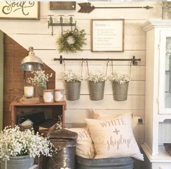 Cute Shabby Chic Farmhouse Living Room Decor Ideas 33