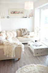 Cute Shabby Chic Farmhouse Living Room Design Ideas 37