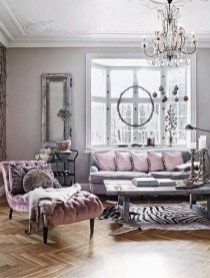Cute Shabby Chic Farmhouse Living Room Design Ideas 48