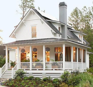 Modern Farmhouse Exterior Designs Ideas 36