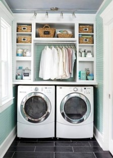 Totally Inspiring Small Functional Laundry Room Ideas 48