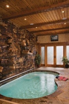 Adorable Small Indoor Swimming Pool Design Ideas 11