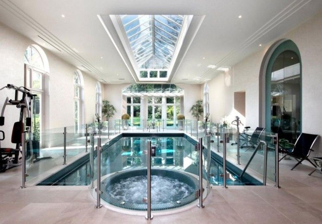 Adorable Small Indoor Swimming Pool Design Ideas 18