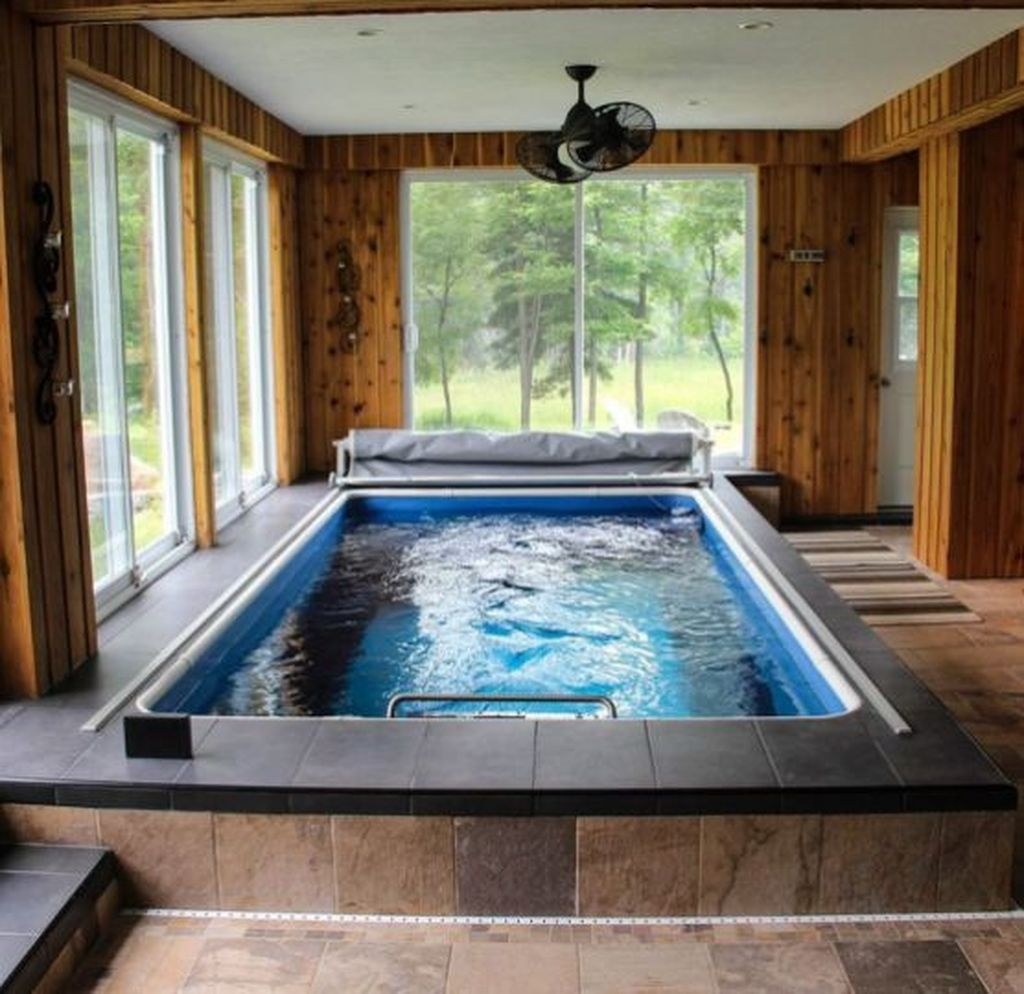 Adorable Small Indoor Swimming Pool Design Ideas 49
