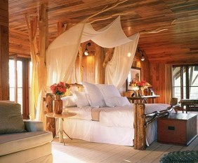 Awesome Canopy Bed With Sparkling Lights Decor Ideas 06