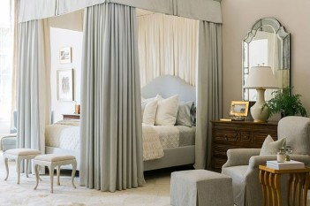 Awesome Canopy Bed With Sparkling Lights Decor Ideas 10