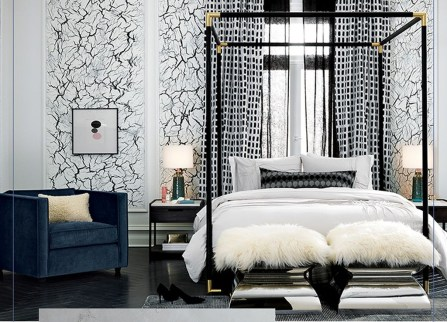 Awesome Canopy Bed With Sparkling Lights Decor Ideas 17