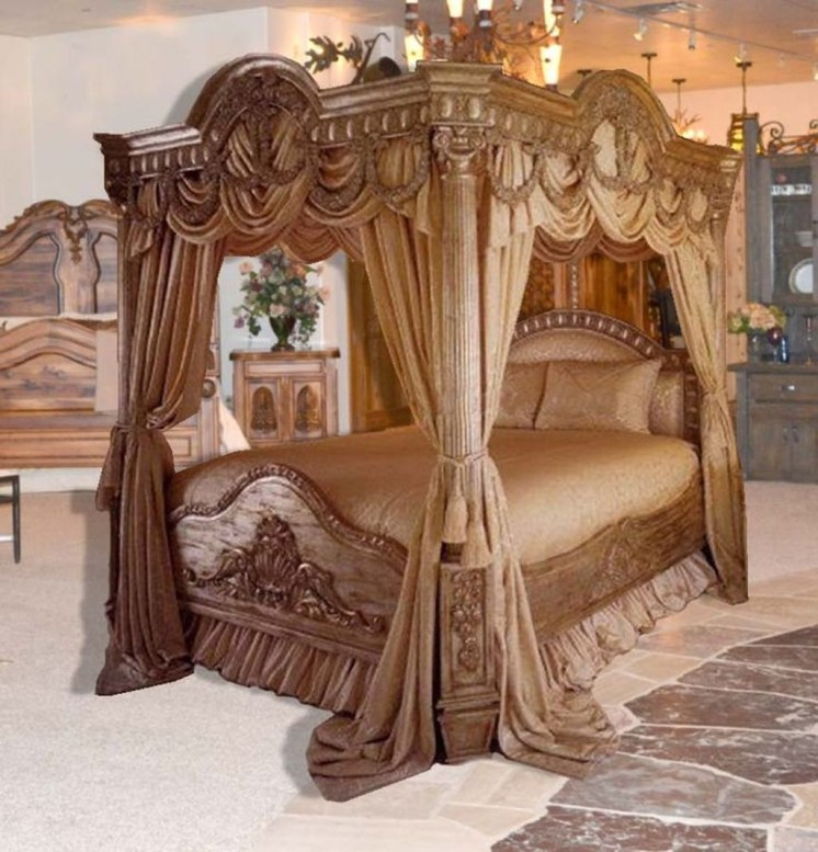 Awesome Canopy Bed With Sparkling Lights Decor Ideas 35