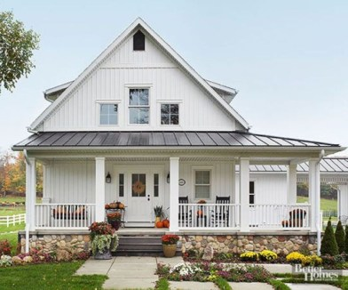 Awesome Farmhouse Home Exterior Design Ideas 40