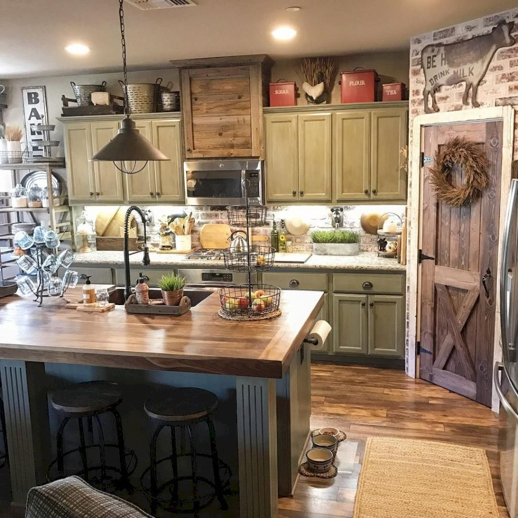 Gorgeous Rustic Farmhouse Kitchen Decoration Ideas 12
