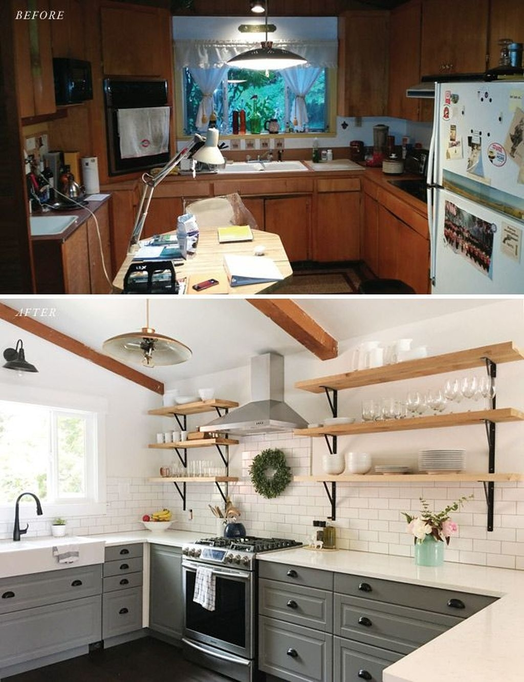 Gorgeus Farmhouse Kitchen Sink Design Ideas 16