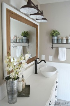 Modern Farmhouse Bathroom Vanity Design Ideas 30