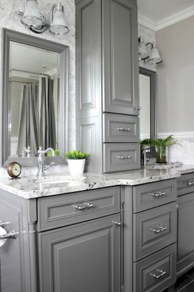 Modern Farmhouse Bathroom Vanity Design Ideas 33