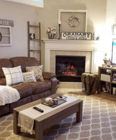 Modern Farmhouse Living Room Decoration Ideas 20