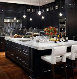 Stunning Luxury Black Kitchen Design Ideas 20