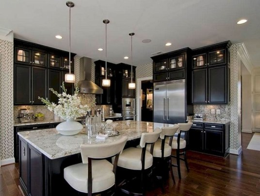 Stunning Luxury Black Kitchen Design Ideas 25