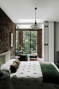 Adorable Exposed Brick Walls Bedrooms Design Ideas 22