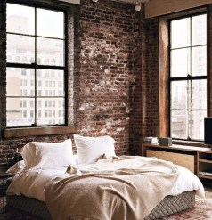 Adorable Exposed Brick Walls Bedrooms Design Ideas 30