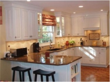 Astonishing U Shaped Kitchen Remodel Ideas 19