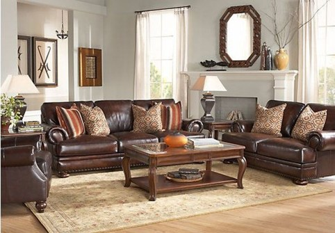 Beautiful Leather Couch Decorating Ideas For Living Room01