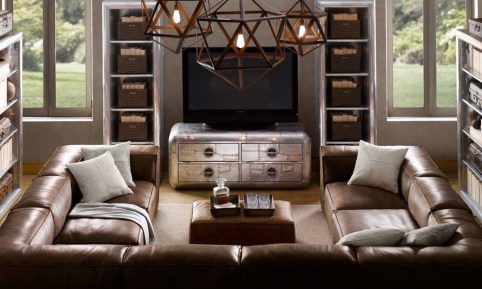 Beautiful Leather Couch Decorating Ideas For Living Room03
