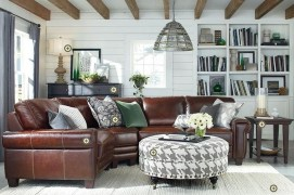 Beautiful Leather Couch Decorating Ideas For Living Room09