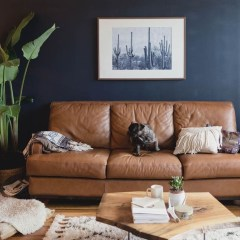 Beautiful Leather Couch Decorating Ideas For Living Room13