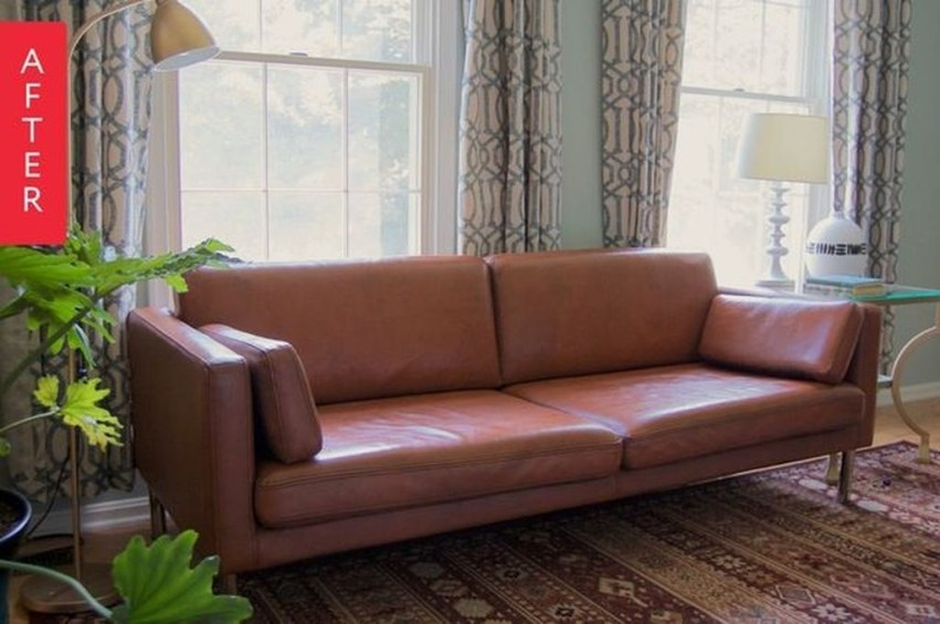 Beautiful Leather Couch Decorating Ideas For Living Room27