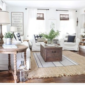 Cozy Modern Farmhouse Style Living Room Decor Ideas 08