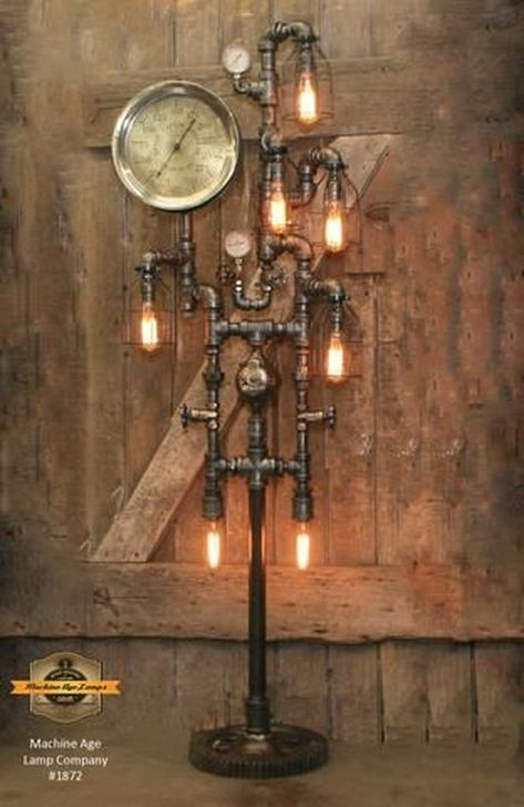 Creative Industrial Floor Lamps Design Ideas 21