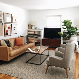 Fancy Leather Living Room Furniture Design Ideas 12