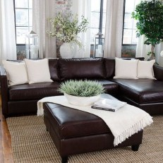 Fancy Leather Living Room Furniture Design Ideas 38