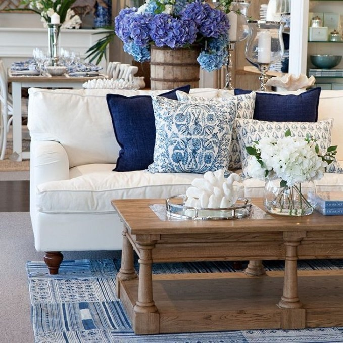 Gorgeous White And Blue Living Room Ideas For Modern Home 42