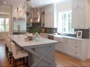 Gorgeous White Kitchen Cabinet Design Ideas 42