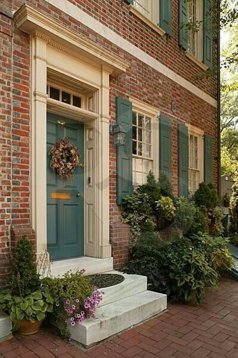 Stunning Exterior Paint Colors Red Brick Ideas 08