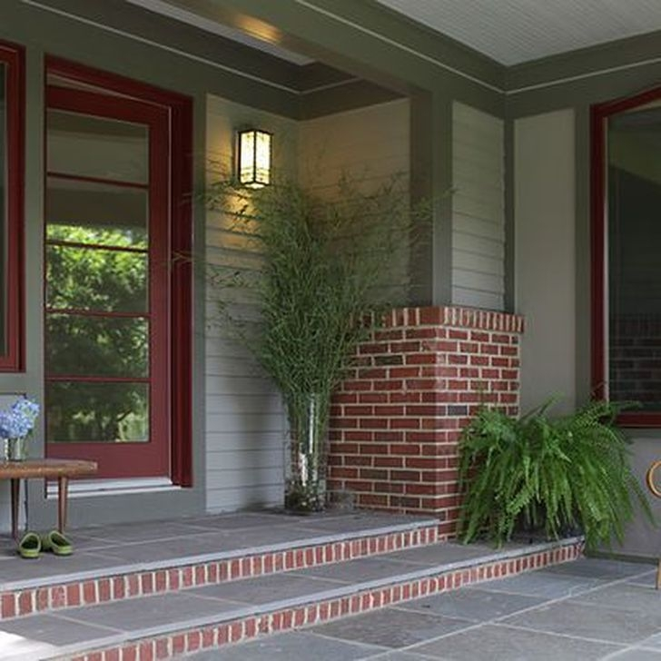 Stunning Exterior Paint Colors Red Brick Ideas 14